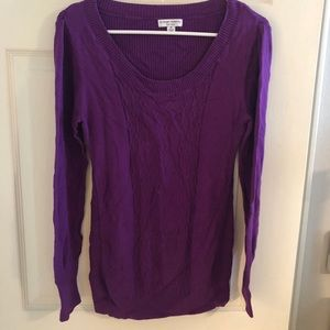 Purple maternity sweater